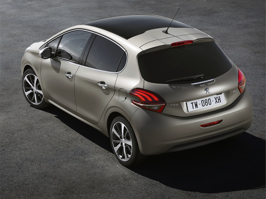 peugeot 208 1 2 blue lease gris aluminium incl. Black Bedroom Furniture Sets. Home Design Ideas